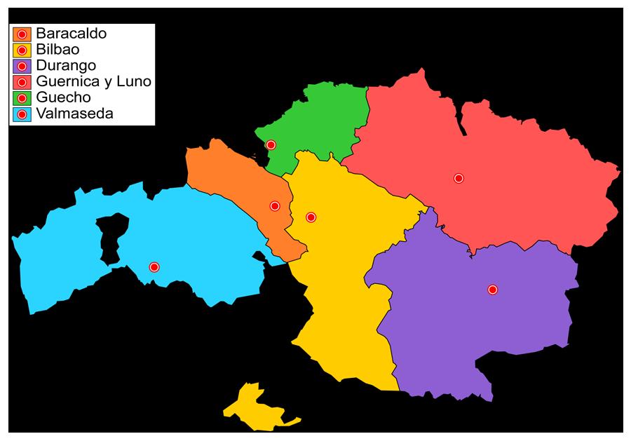 Partidos judiciales de Bizkaia